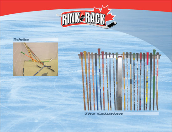 The solution to messy and dangerous hockey sticks for arenas and hockey rinks