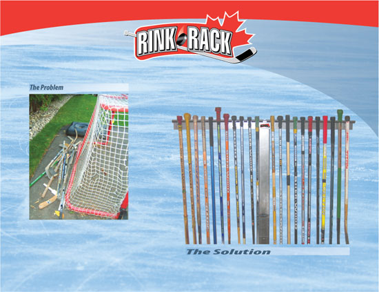 The solution to messy and dangerous hockey sticks around the house